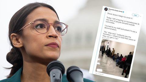 """US-Demokratin Alexandria Ocasio-Cortez schockiert über die """"Line-Standers"""""""