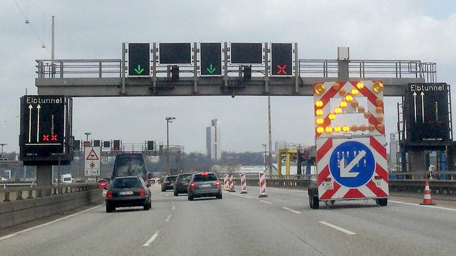 Hamburg Elbtunnel Sperrung