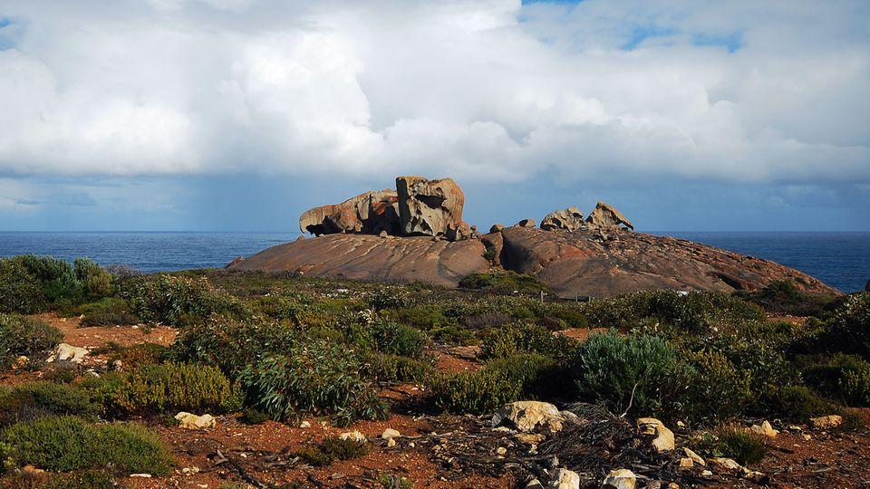 Thronen hoch über der Küste:die Remarkable Rocks im Flinders Chase National Park