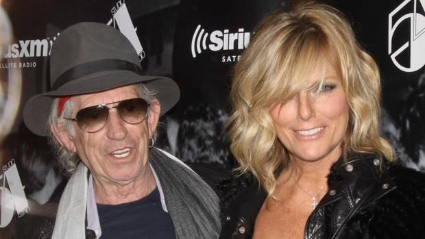 Rolling Stones-Gitarrist Keith Richars mit seiner Frau Patti
