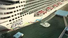 Kreuzfahrtschiff baut Unfall auf Puerto Rico