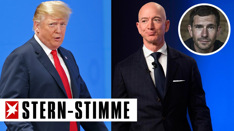 Donald Trump und Jeff Bezos