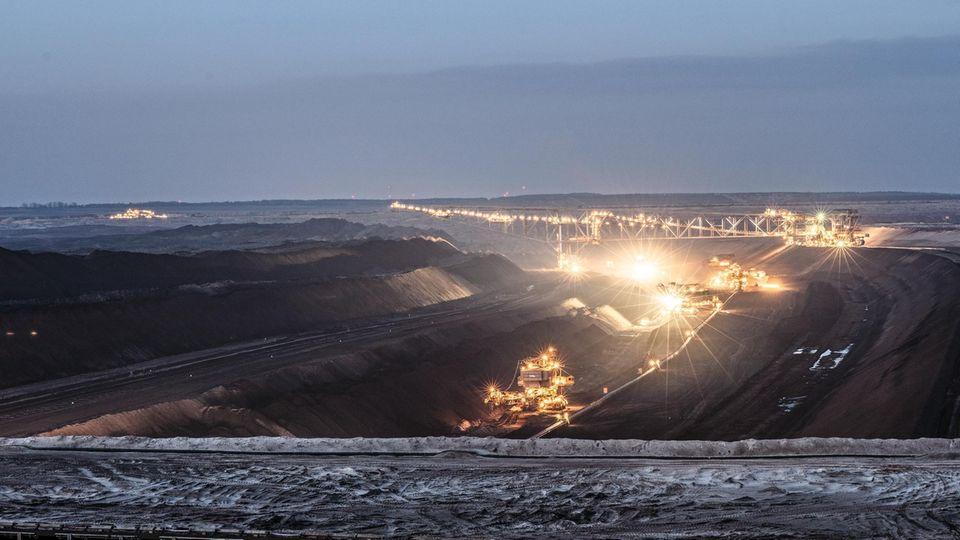 Der Tagebau in Welzow-Süd