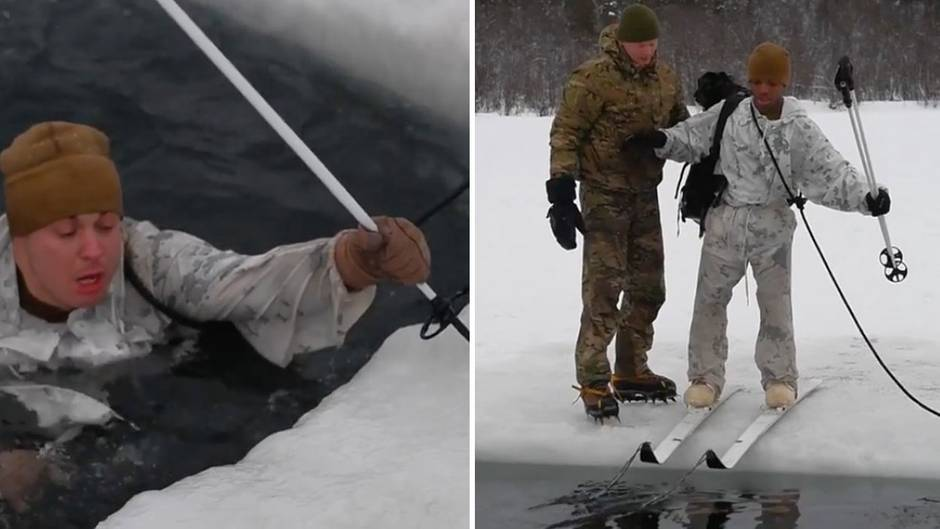 Training in Norwegen : So härten sich US-Marines gegen den Kälteschock ab
