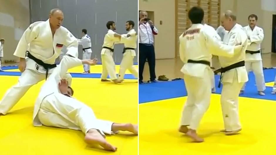 Russischer Präsident: Putin inszeniert sich als Judo-Ass und verletzt sich dabei am Finger