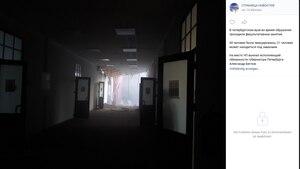 Dieses Foto aus dem sozialen Netzwerk VK soll das Innere des eingestürzten Unigebäudes zeigen