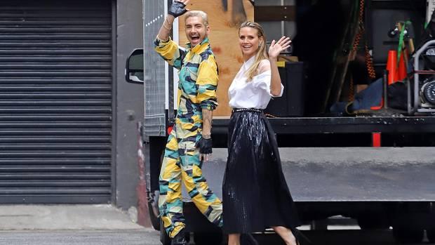 "Vip News: Bill Kaulitz und Heidi Klum bei den Dreharbeiten zu ""Germany's Next Topmodel"""