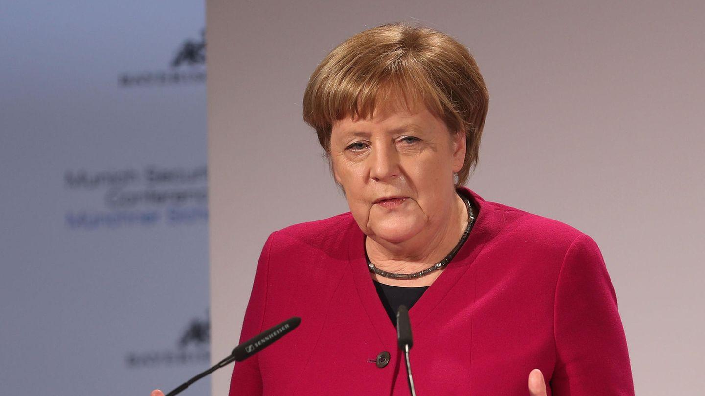 Ohne Trump zu erwähnen: Angela Merkel während ihrer Rede auf der Münchner Sicherheitskonferenz