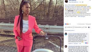 Vip News: Motsi Mabuse mit ihrem Baby im Kinderwagen