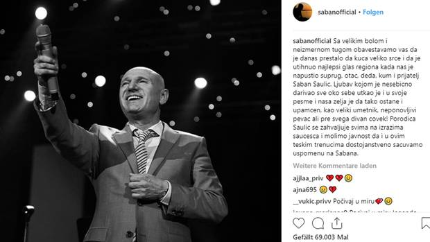 """Saban Saulic - Serbiens """"König der Volksmusik"""" stirbt auf deutscher Autobahn"""