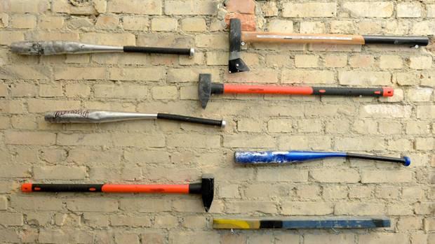 Werkzeugauswahl im Wutraum