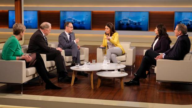 """Die Gäste bei """"Anne Will"""" zum Thema: Die neue Welt-Unordnung – muss Deutschland mehr Verantwortung übernehmen?"""""""