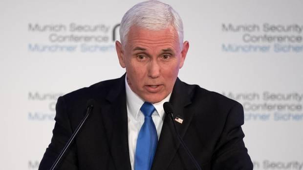 Mike Pence: US-Außenminister erntet eisiges Schweigen bei Münchner Sicherheitskonferenz