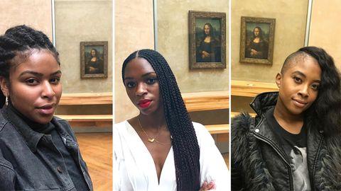 Schwarze Frauen posten Selfies mit Mona Lisa – das steckt dahinter