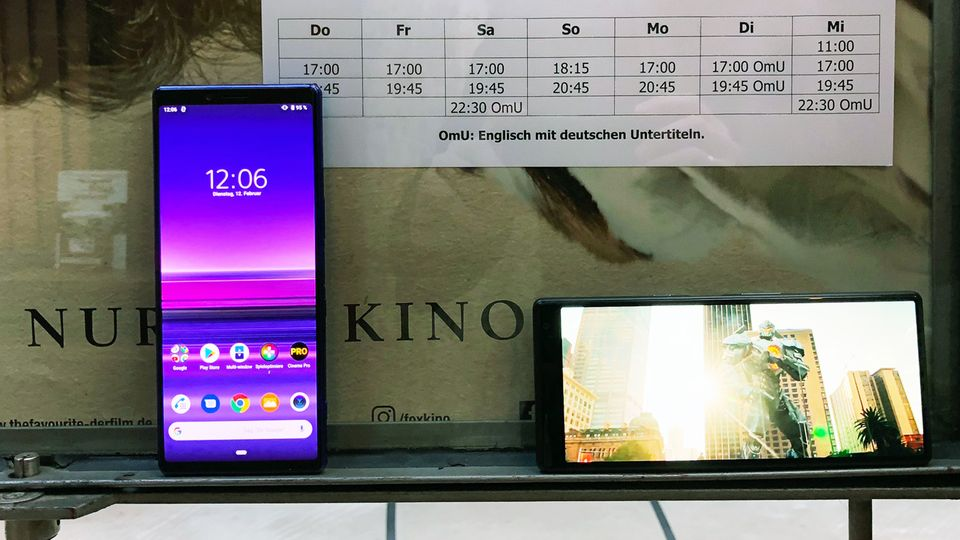 Mit dem 21:9-Format will Sony das Xperia 1 als Kino-Gerät vermarkten