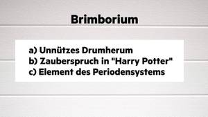 "Ein Rätsel um das Wort ""Brimborium""."