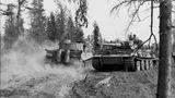 August 1943: Tiger I in der Nähe des Lagoda Sees.