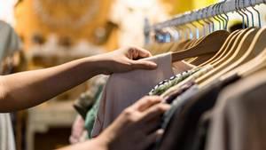 Kleidung Shopping
