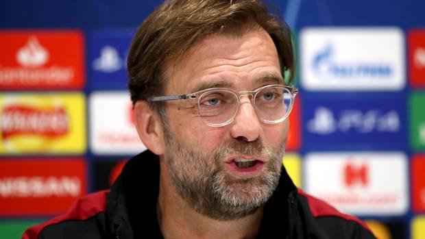 Liverpool-Coach Jürgen Klopp vor der Champions-League-Partie gegen Bayern München