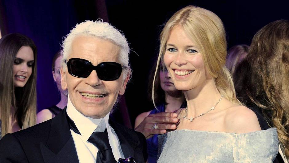 Karl Lagerfeld Claudia Schiffer