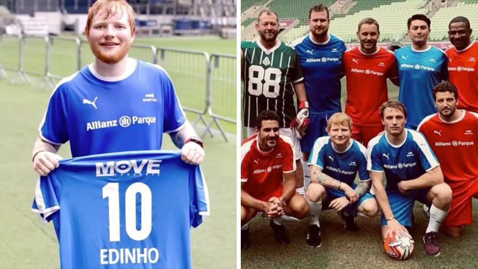 Ed Sheeran durfte bei den brasilianischen Profis mitspielen