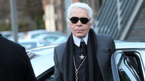 Karl Lagerfeld fuhr nicht selbst Auto, sondern ließ sich lieber chauffieren