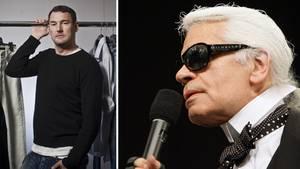 Karl Lagerfeld mit einer Sonnenbrille von Michael Michalsky
