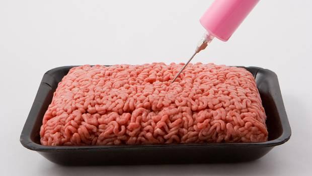 Pinker Schleim Hackfleisch