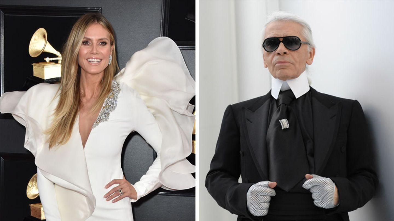 Heidi Klum Karl Lagerfeld