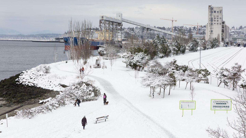 Seattle im Schnee