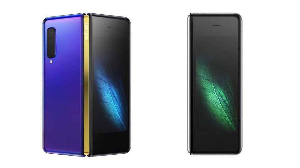 Das Galaxy Fold lässt sich als Smartphone (rechts) oder als Tablet nutzen