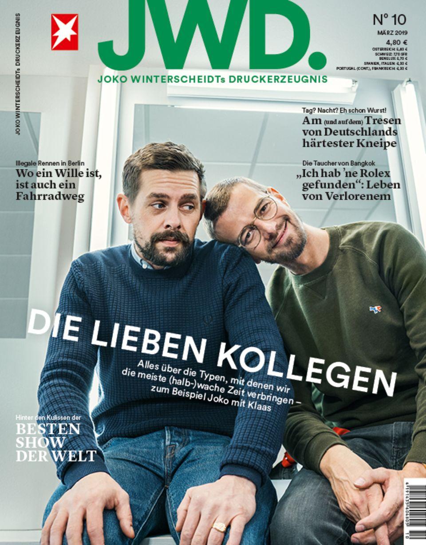 Joko und Klaas auf dem Cover der JWD, Ausgabe 10