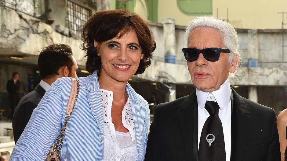 Ines de la Fressange und Karl Lagerfeld