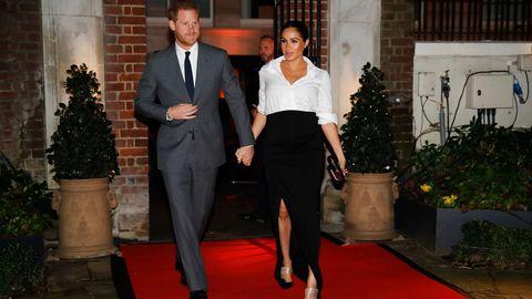 Prinz Harry und seine schwangere Ehefrau Meghan