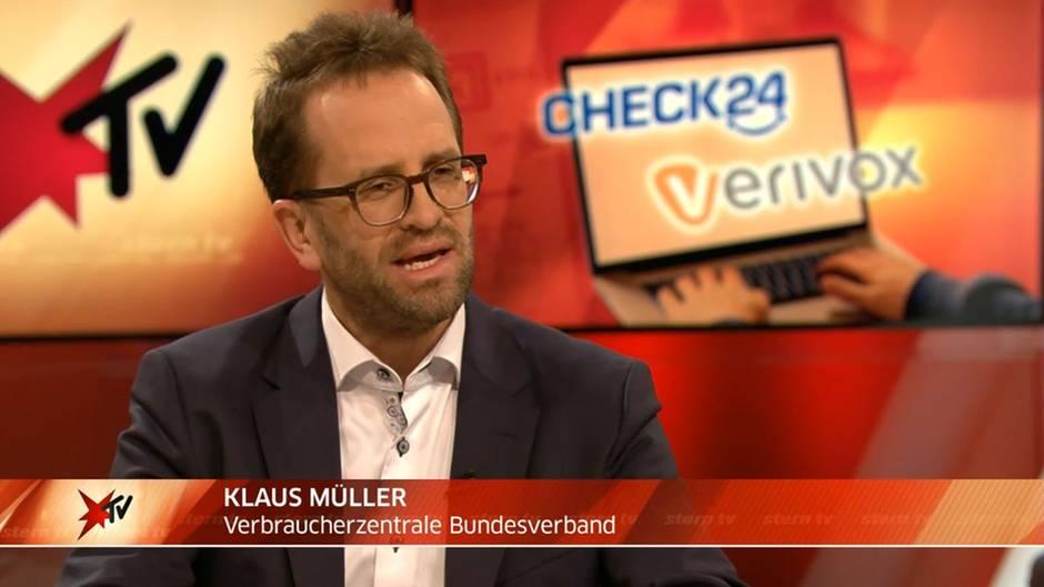 """stern TV-Studiogespräch mit Verbraucherschützer Klaus Müller : """"Wir brauchen Faiplay-Regeln für Vergleichsportale"""""""