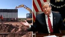 Trump postet Mauerarbeiten auf Twitter