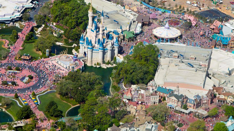 Der Freizeitpark der Superlative:Walt Disney World Resortin Florida liegt auf Platz 1