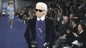 Karl Lagerfeld auf einer Modenschau