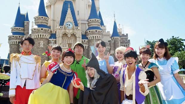 Bitte lächeln:Besucher des Tokyo Disney Resort in der Halloween-Zeit. Der Park liegt südöstlich von Tokio.