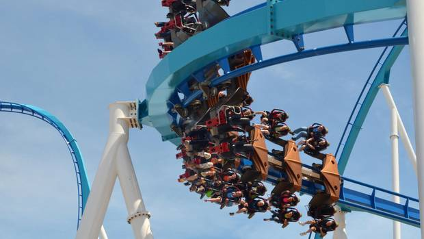 Cedar Point im Bundesstaat Ohio bezeichnet sich als Roller Coaster Capital of the World