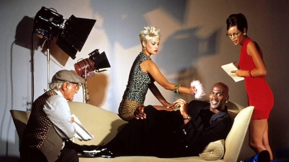 """Ein PR-Foto des """"Space Jam""""-Films mit Michael Jordan von 1997"""