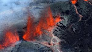 Vulkanausbruch auf La Reunion