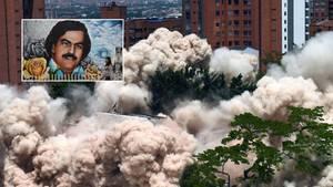 Pablo Escobars Haus in Medellin wurde gesprengt.