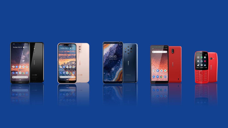 Das neue Nokia-Lineup: Das Nokia 4.2, Nokia 3.2, Nokia 9, Nokia 1 Plus und Nokia 210