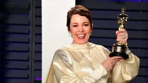Olivia Colman freute sich ungemein über ihren Oscar