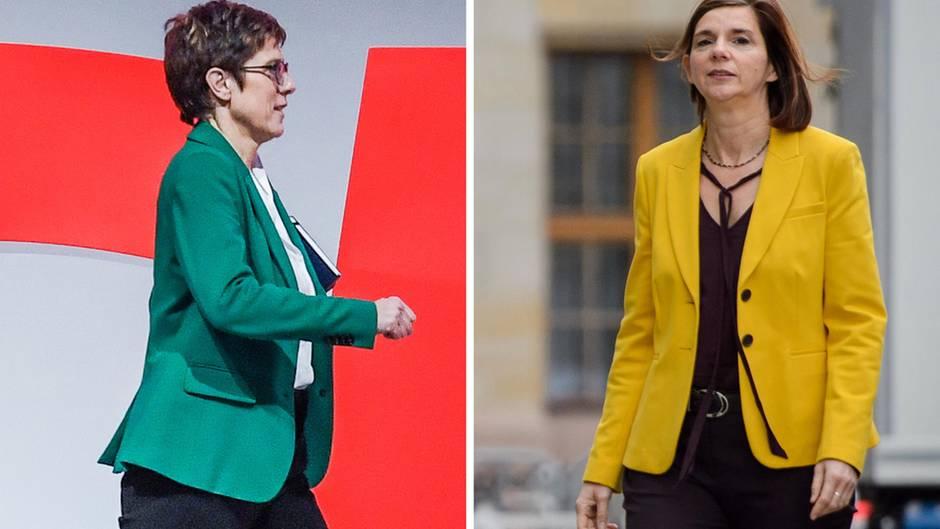 Kramp-Karrenbauer und Göring-Eckardt machen PR für Schwarz-Grün