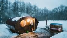 Eine Sauna in Estland