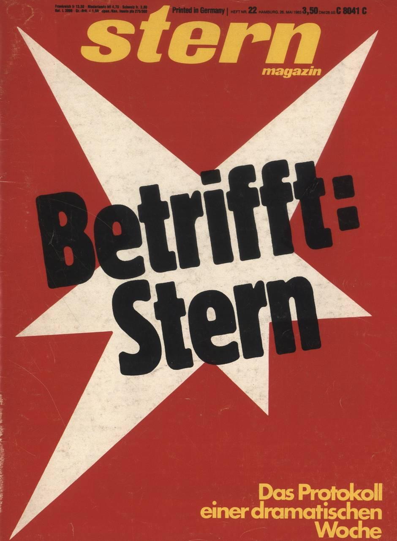 Cover des stern 22/1983 (erschienen am 26. Mai 1983)