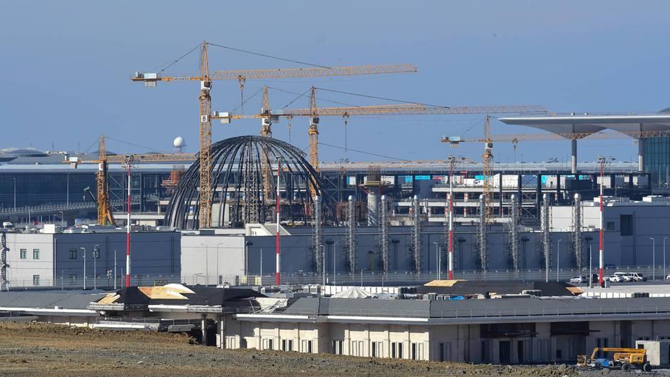 Großbaustelle Mega-Airport Istanbul: Ursprünglich sollte der neue Flughafen im Oktober 2018 seinen vollständigen Betrieb aufnehmen