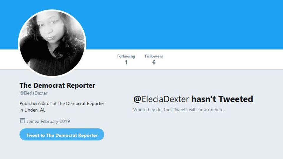 Elecia Dexter auf Twitter